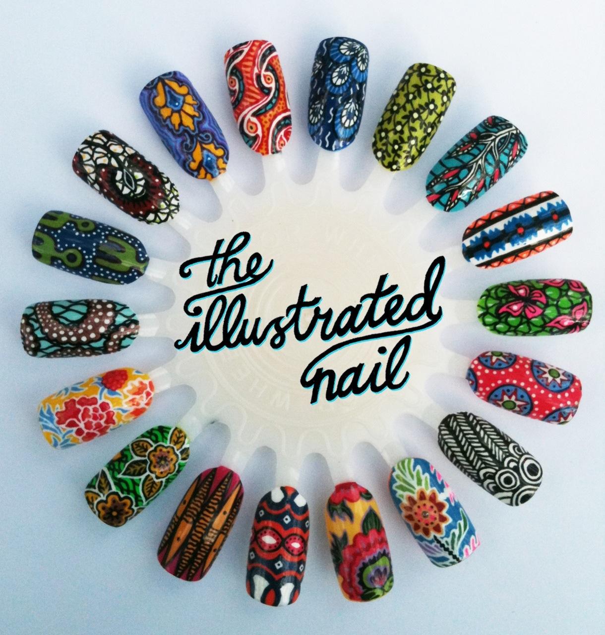 Дизайн ногтей этнические принты